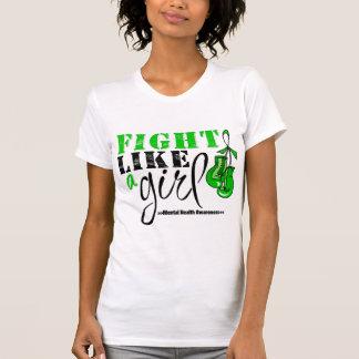 Mental Heatlh Awareness Fight Like a Girl T-shirt