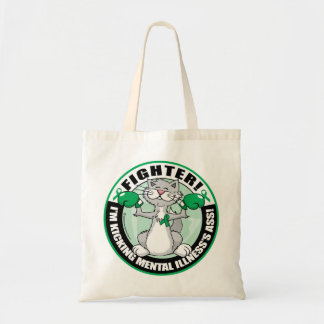 Mental Illness Cat Fighter Budget Tote Bag