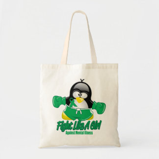 Mental Illness Fighting Penguin Tote Bag