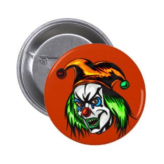 Mentally Insane Evil Clown Button