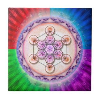 Mentatrons cube - sun II Ceramic Tile