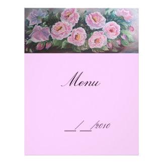 menu 21.5 cm x 28 cm flyer