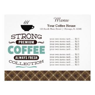 Menu card coffee house 21.5 cm x 28 cm flyer