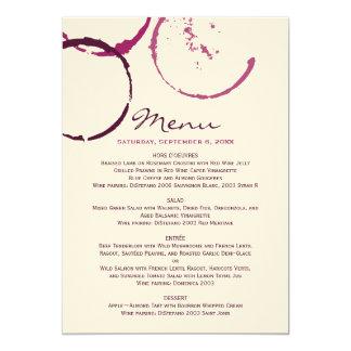 Menu Cards | Wine Stain Rings