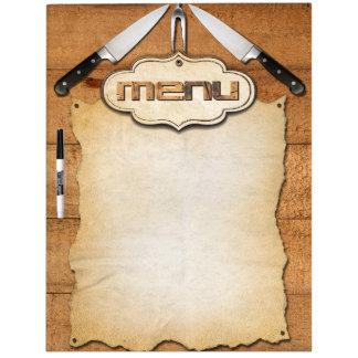 Menu Dry Erase Board