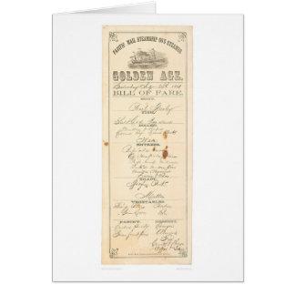 "Menu for Steamer ""Golden Age"" (1276A) Card"
