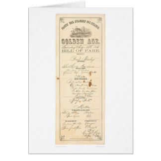 Menu for Steamer Golden Age 1276A Greeting Cards