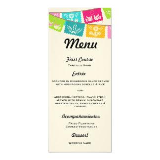 Menu for Wedding or Fiesta 10 Cm X 24 Cm Invitation Card