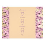 Menu templates - customisable pink orchids personalised invite