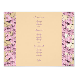 Menu templates - customizable pink orchids personalized announcement