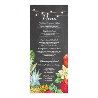 Menu Wedding Reception Rustic Chalk Aloha Cards 10 Cm X 24 Cm Invitation Card