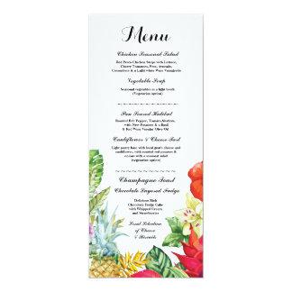 Menu Wedding Reception Rustic Luau Aloha Cards 10 Cm X 24 Cm Invitation Card