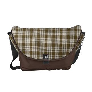Menzies Tartan Brown & White Tartan Messenger Bag