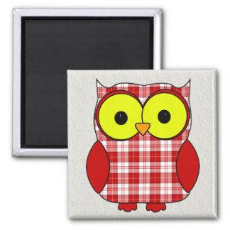 Menzies Tartan Plaid Owl Magnets