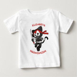 Meow Assassin Ninja Cat Meowssassin Cute Funny Baby T-Shirt