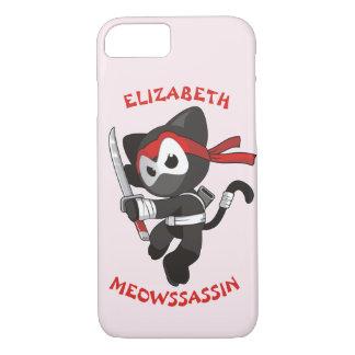 Meow Assassin Ninja Cat Meowssassin Cute Funny iPhone 8/7 Case