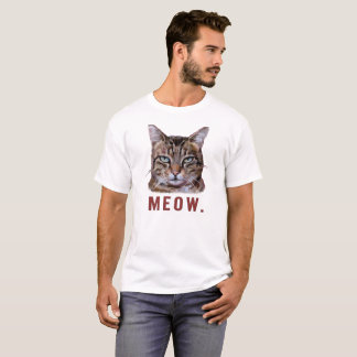 """Meow."" Bored cat. funny, cute, quirky t-shirt. T-Shirt"