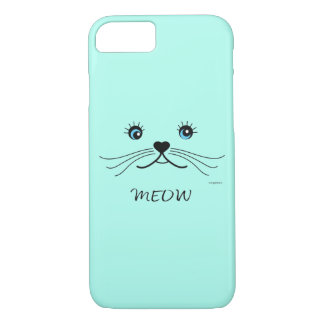 MEOW-Cat Face Graphic Cool iPhone 8/7 Case