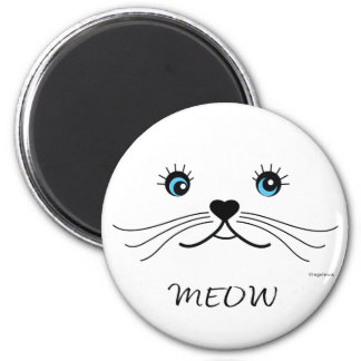 MEOW-Cat Face Graphic Cool Magnet
