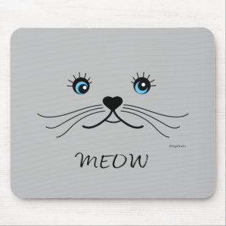MEOW-Cat Face Graphic Cool Mouse Pad