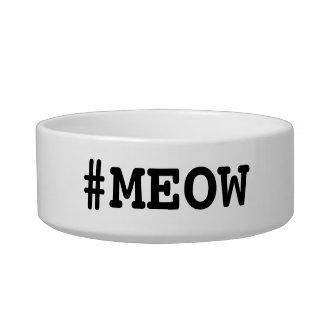 #MEOW Cat Food Dish Pet Food Bowls