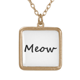Meow Cat Kitty Voice Meowing Kitten Neko Calling Gold Plated Necklace