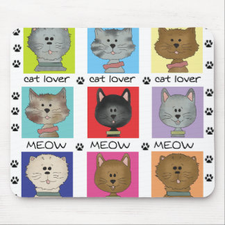 Meow Cat Lover Mouse Pad