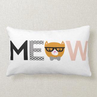 Meow cat throw pillow