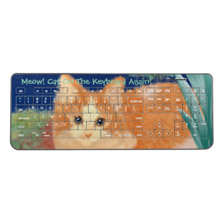 Meow Cat Wireless Keyboard