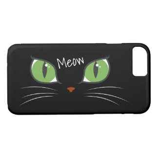 Meow Cute Girly Cat Eyes Personalized iPhone 8/7 Case