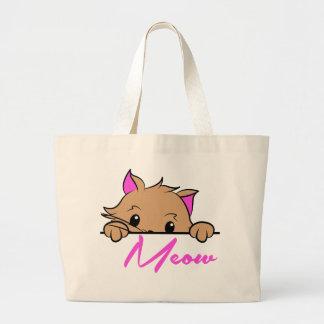 Meow Jumbo Tote Jumbo Tote Bag