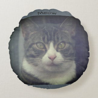 """Meow"" Kitty Cat Pillow"