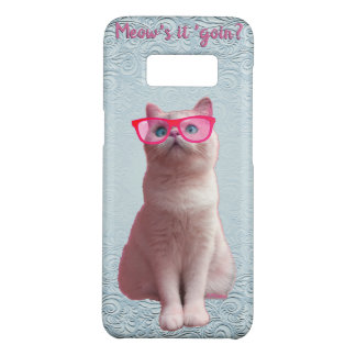 Meow Kitty Phone Case Add Name