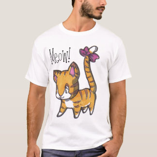 Meow! Kitty Shirt For Kids!