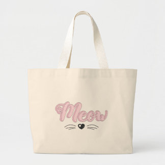 Meow Large Tote Bag