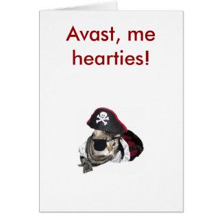 Meow Like a Pirate, Avast, me hearties! Card