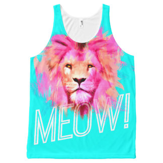 MEOW Lion All-Over Print Tank Top