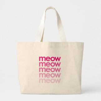 meow meow meow meow large tote bag