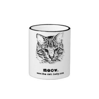 Meow mug. ringer mug