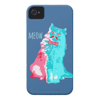 Meow Mustache Kitty iPhone 4 Covers
