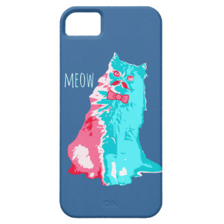 Meow Mustache Kitty iPhone 5/5S Cover