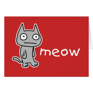 Meow Note Card