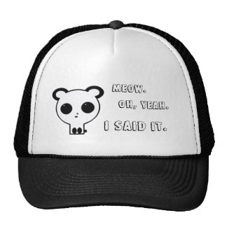 MEOW Panda Hat