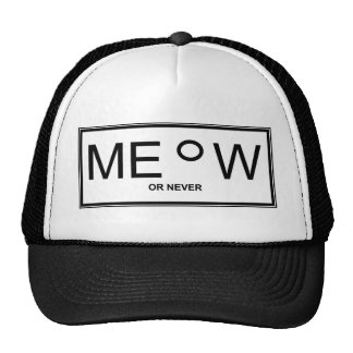 meow picture trucker hat