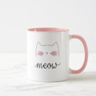 Meow Pink Kitten MUG