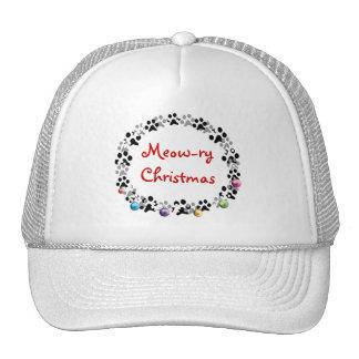 Meow-ry Christmas Trucker Hat