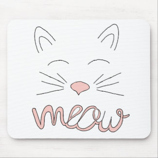 Meow Said the Cat Mouse Pad