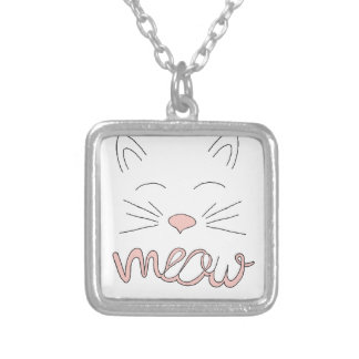 Meow Said the Cat Silver Plated Necklace