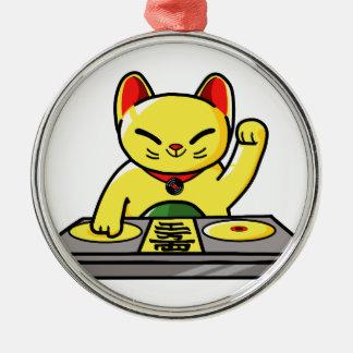 Meow-sician Metal Ornament