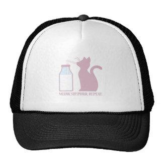 Meow Sip Purr Cap